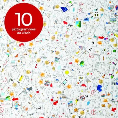10 pictogrammes au choix